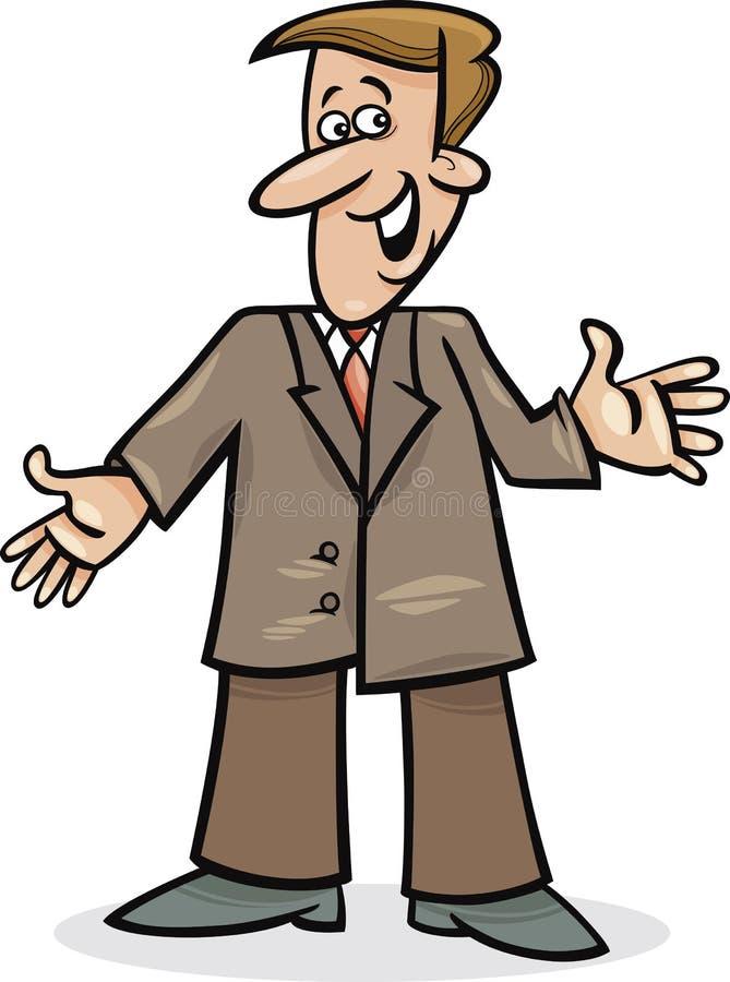 Homme de dessin animé dans le costume illustration de vecteur