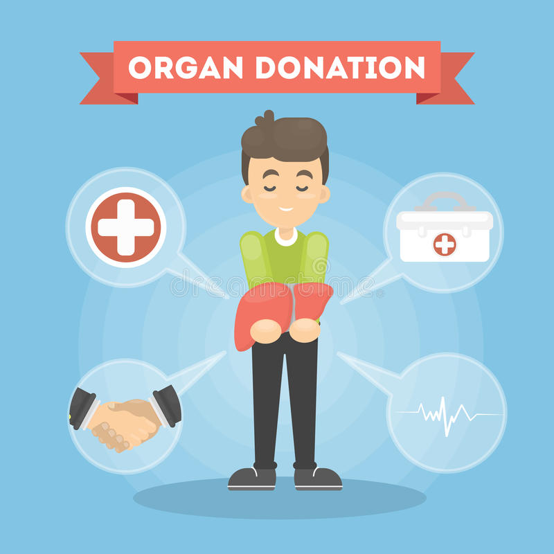 Homme de donation d'organe illustration de vecteur