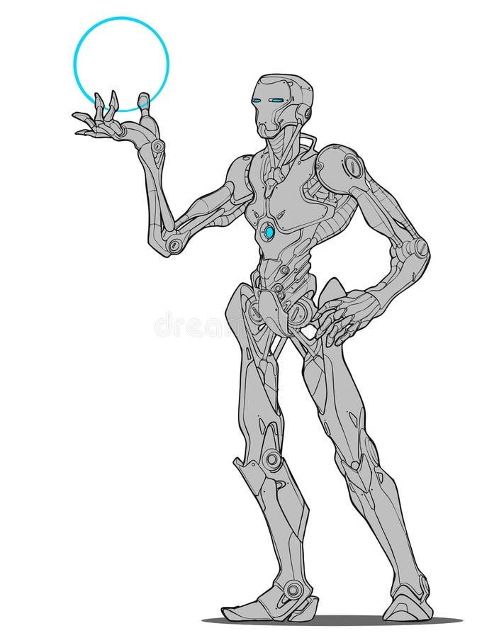 Homme de fer de droid de robot illustration stock