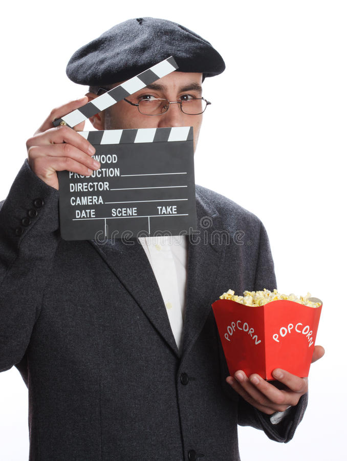 Homme de film photographie stock libre de droits