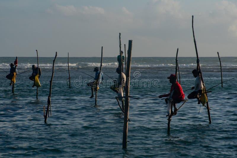 Homme de Fisher au Sri Lanka images libres de droits