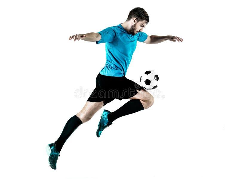 Homme de footballeur d'isolement photo stock