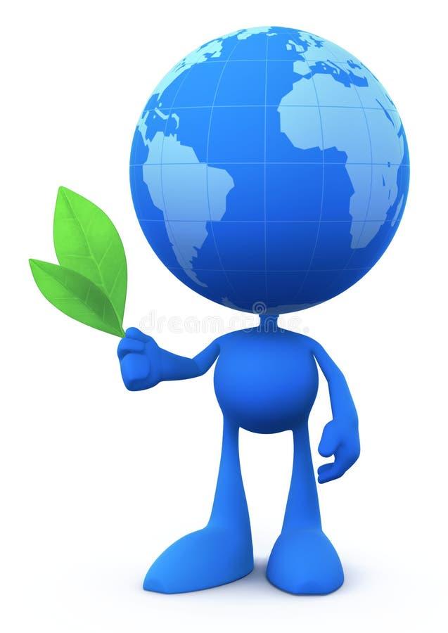 Homme de globe (le conciliateur) illustration libre de droits