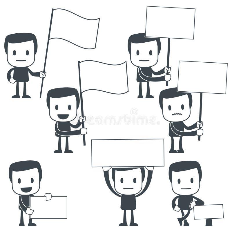 Homme de graphisme illustration libre de droits