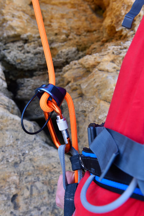 Homme de grimpeur photos libres de droits