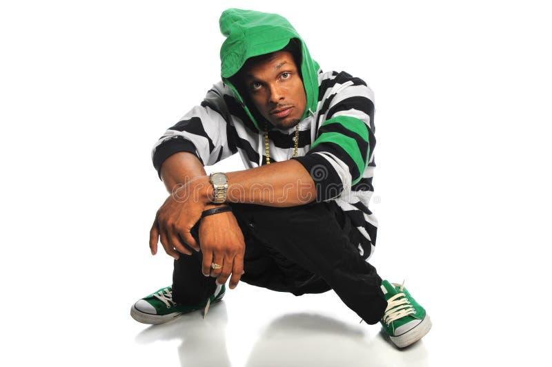 Homme de Hip Hop d'afro-américain images libres de droits