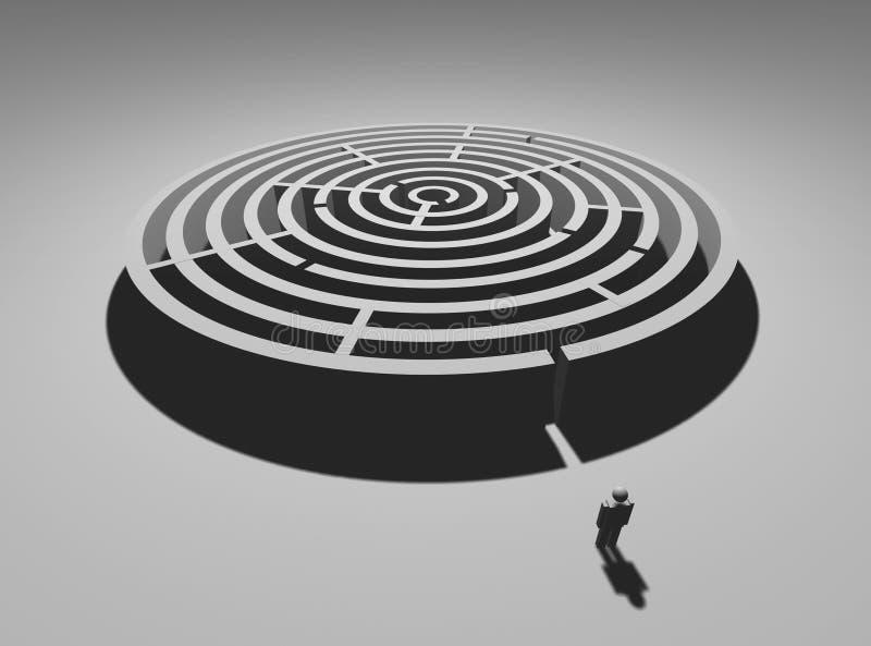 Homme de labyrinthe illustration stock