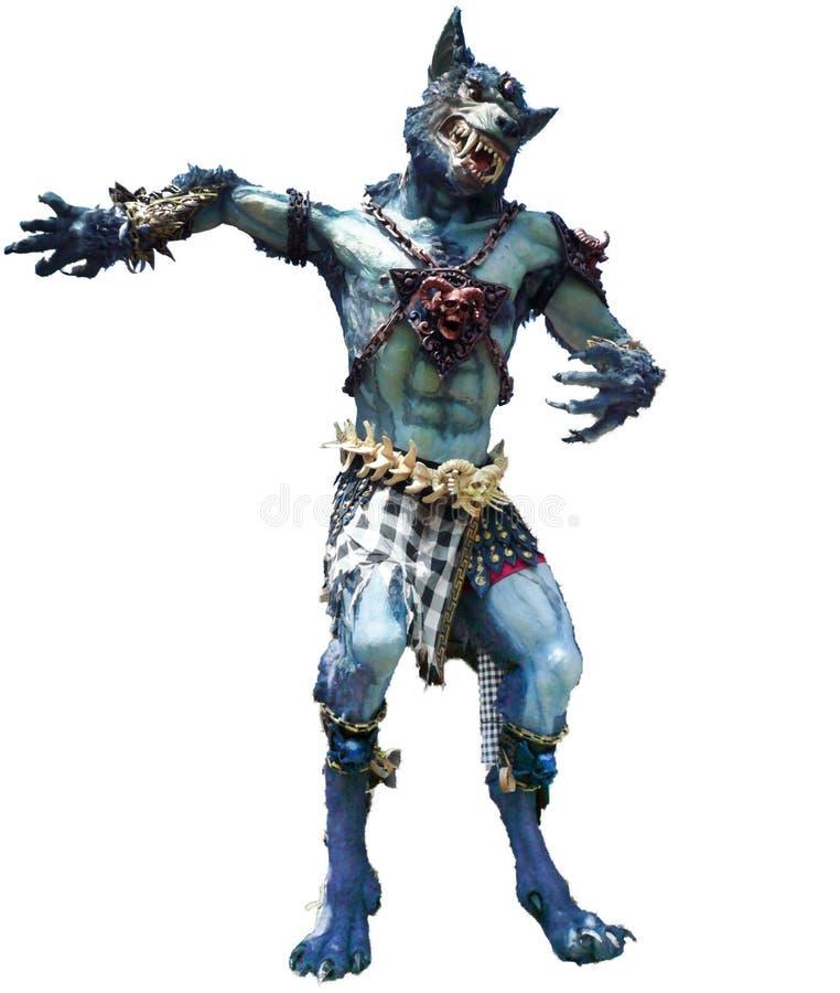 Homme de loup de cr?ature de monstre photo libre de droits