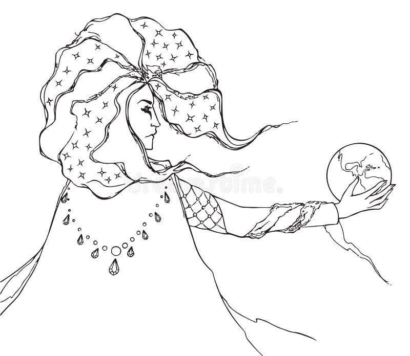 Homme de magicien d'astrologue illustration libre de droits