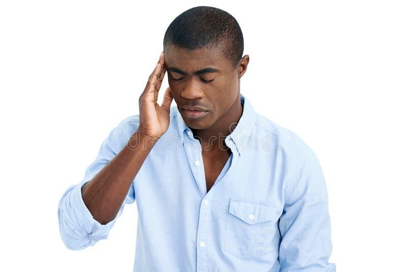Download Homme de mal de tête photo stock. Image du triste, mémoire - 45369074