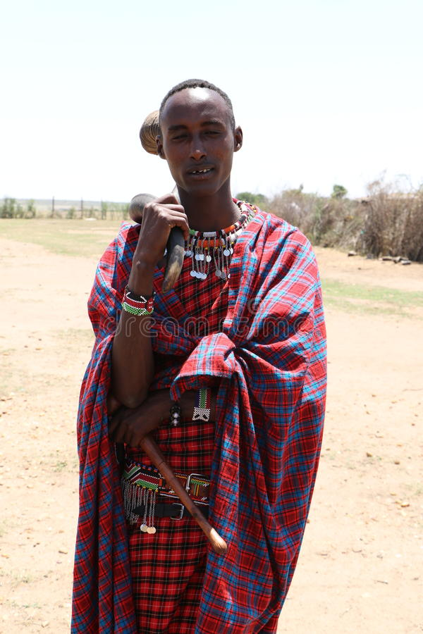 Homme de Massai photos stock
