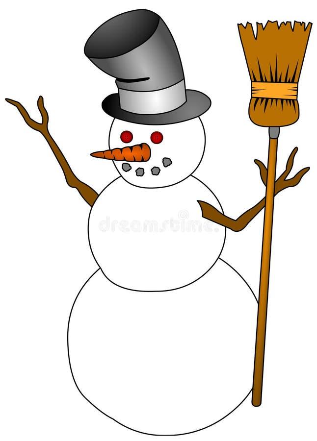 Homme de neige illustration de vecteur