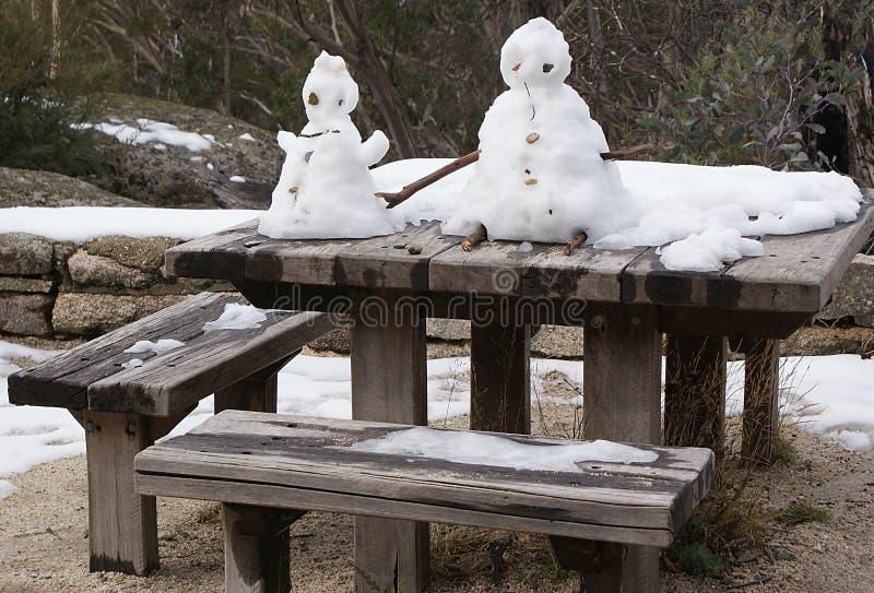 Homme de neige et Madame de neige image stock