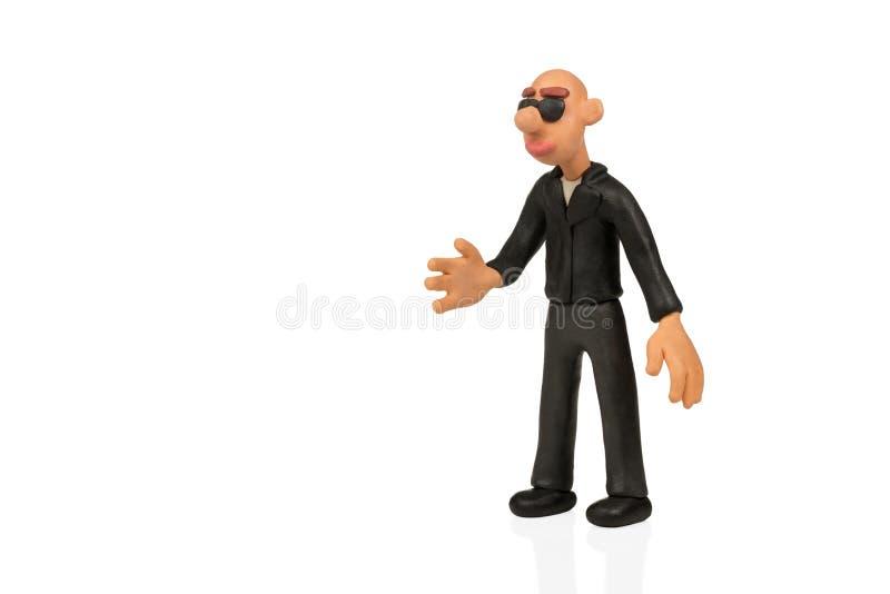 Homme de pâte à modeler prêt à se serrer la main photo libre de droits