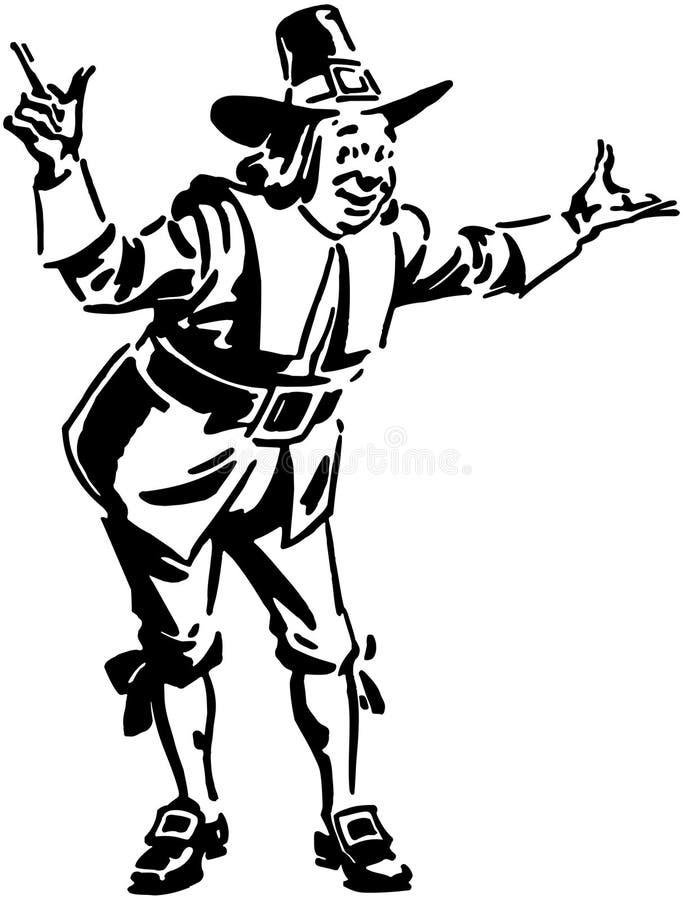 Homme de pèlerin illustration de vecteur