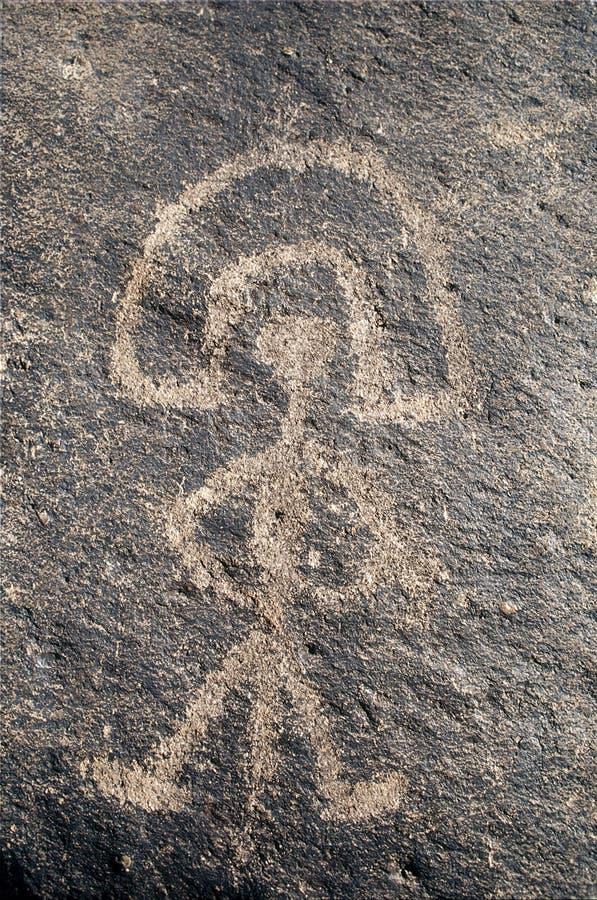 Homme de pétroglyphe images stock