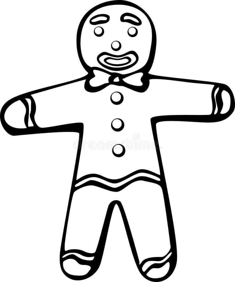 Homme de pain d'épice illustration libre de droits