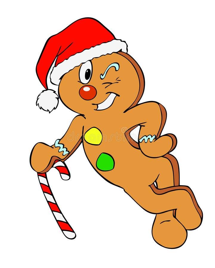 Homme de pain d'épice de Noël illustration de vecteur