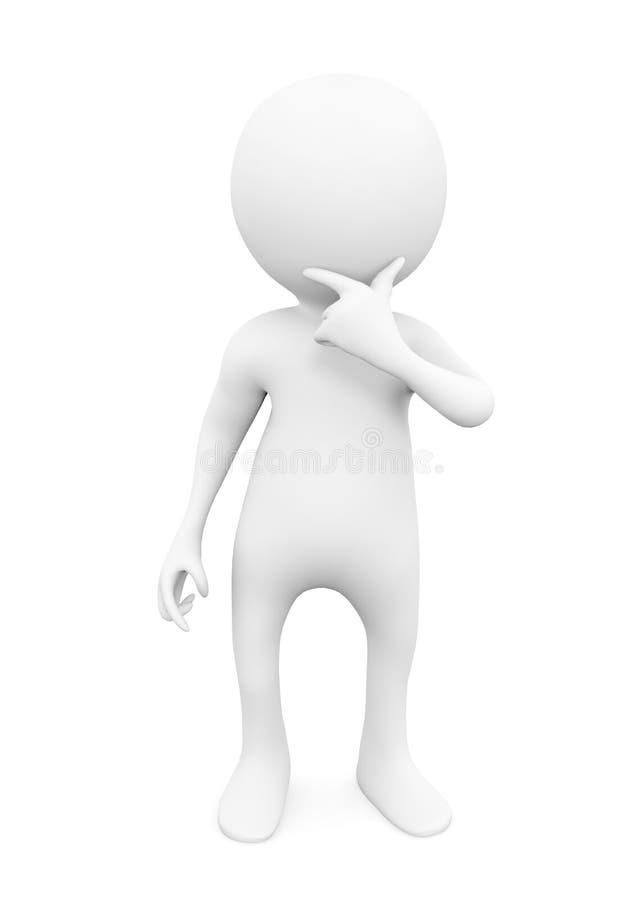 Homme de pensée blanc illustration de vecteur