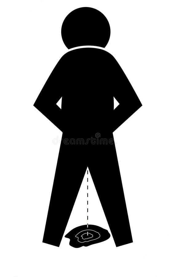 Homme de pipi illustration stock