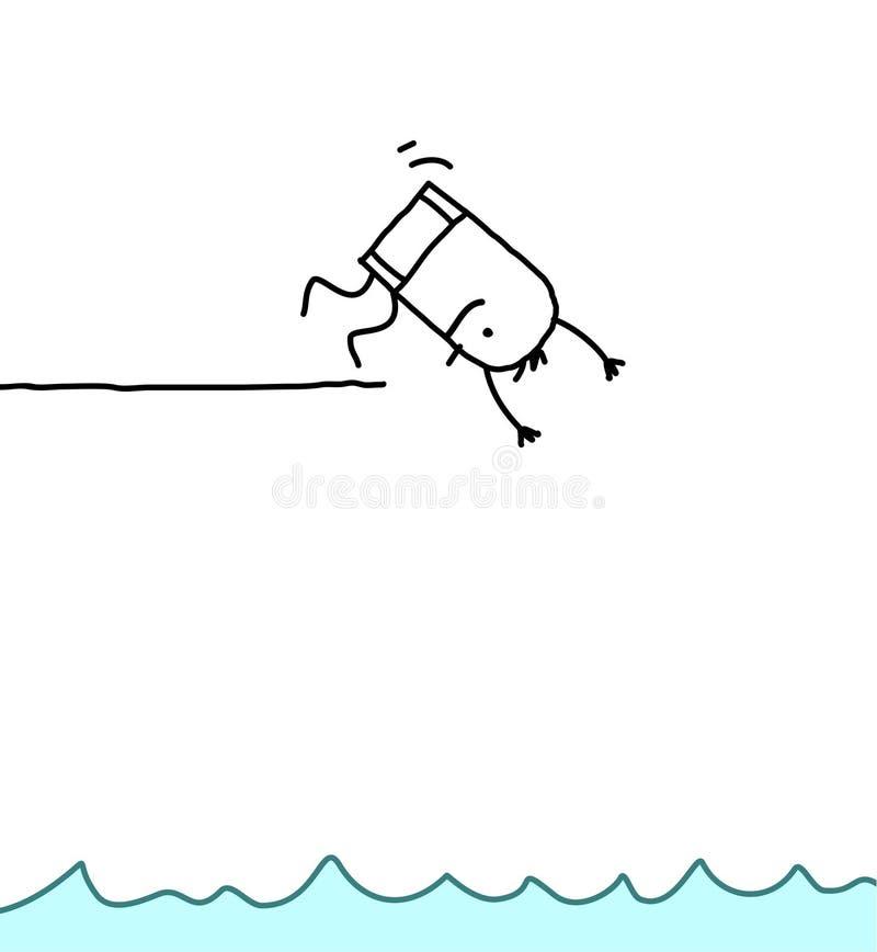 Homme de plongée illustration de vecteur