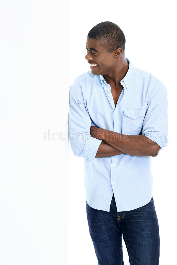 Download Homme de publicité sûr photo stock. Image du blanc, clés - 45369070