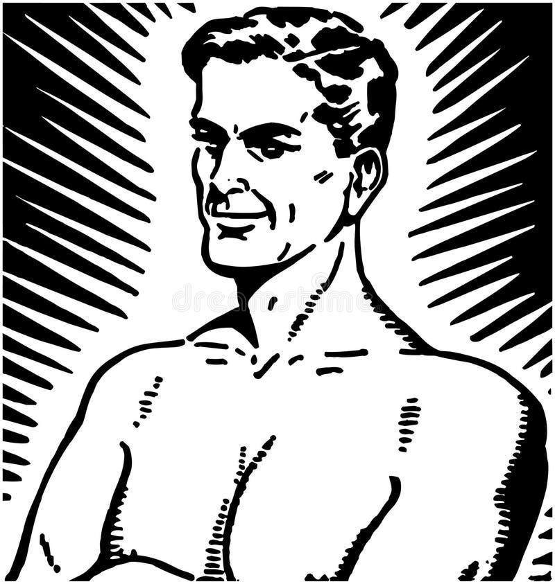 Homme de puissance illustration de vecteur