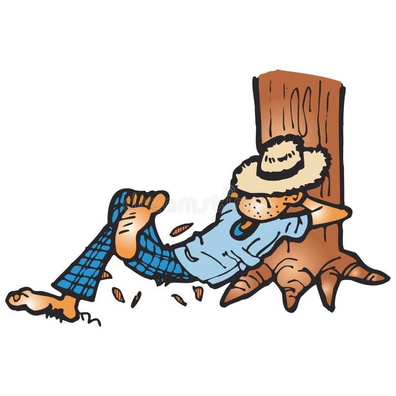 Homme de région forestière inexploitée illustration de vecteur