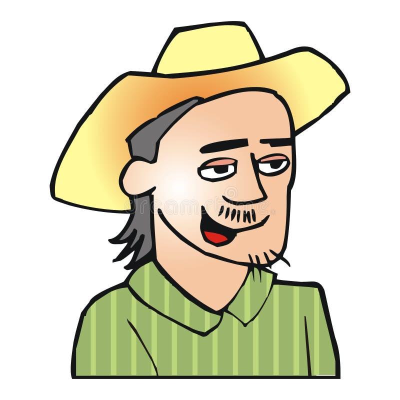 Homme de région forestière inexploitée illustration libre de droits