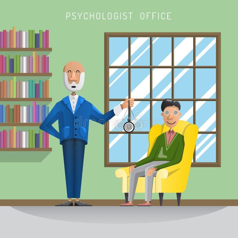 Homme de session d'hypnose illustration stock
