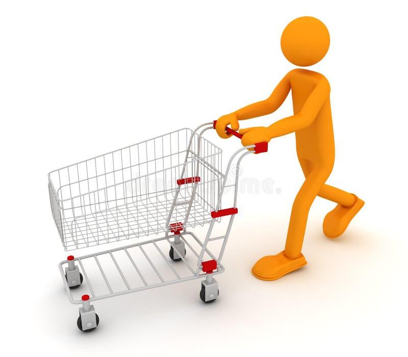 Homme de Shoping illustration libre de droits