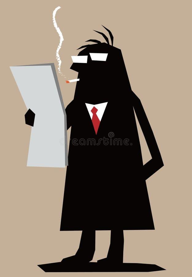 Homme de silhouette illustration libre de droits