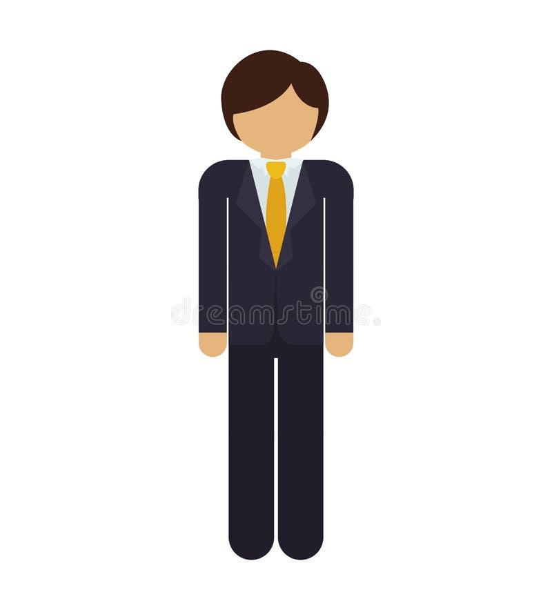 Homme de silhouette avec le costume formel illustration stock