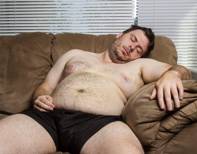 Homme de sommeil images stock