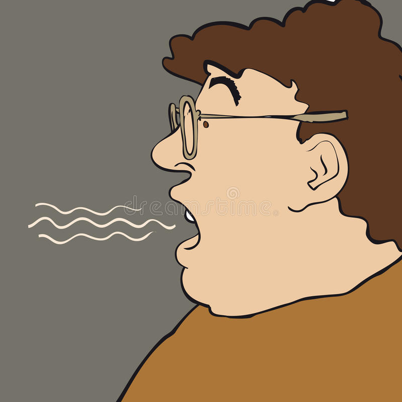 Homme de souffle illustration libre de droits