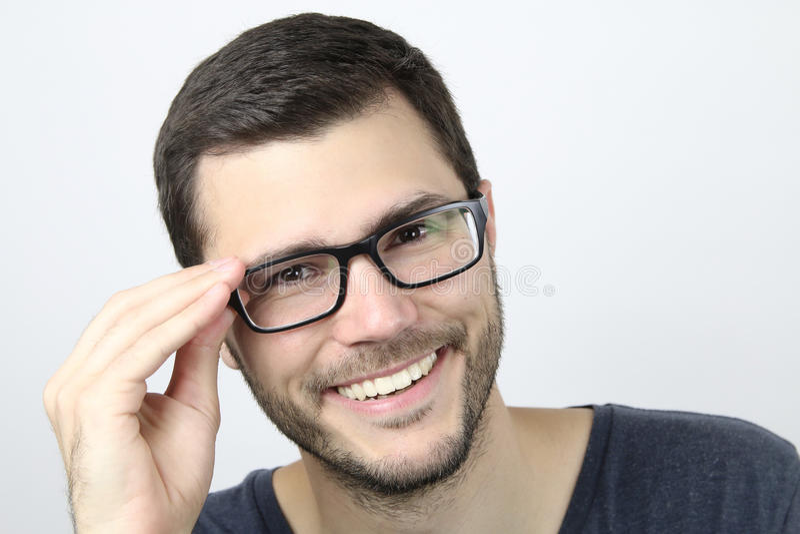 Homme de sourire images stock