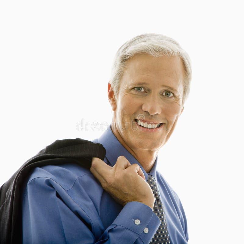 Homme de sourire avec la jupe. image stock