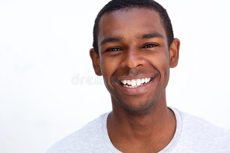 Homme de sourire d'Afro-américain photo stock
