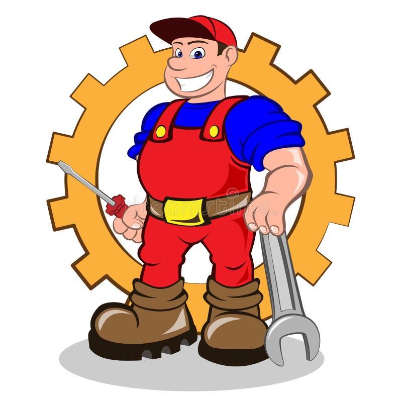 Homme de sourire de mécanicien illustration libre de droits