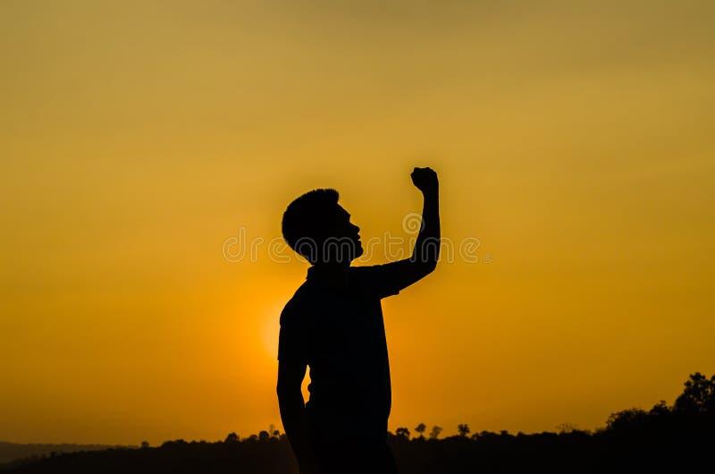 Homme de succès de silhouette photo libre de droits