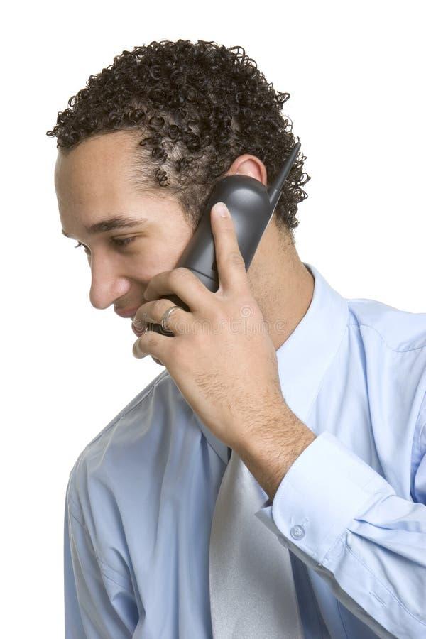 Homme de téléphone d'affaires images libres de droits