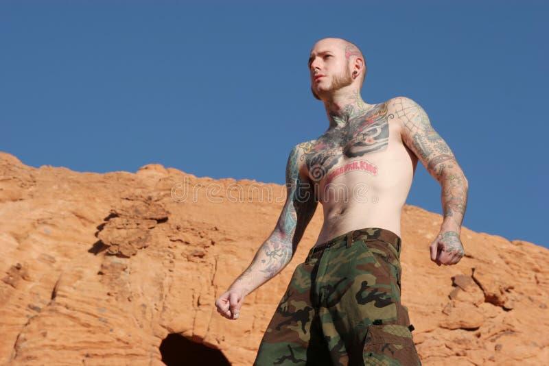 Homme de tatouage photos libres de droits