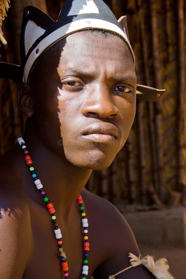 Homme de tribu de zoulou photo libre de droits