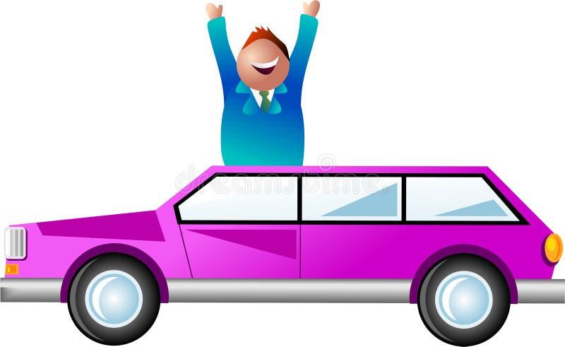 Homme de véhicule illustration stock
