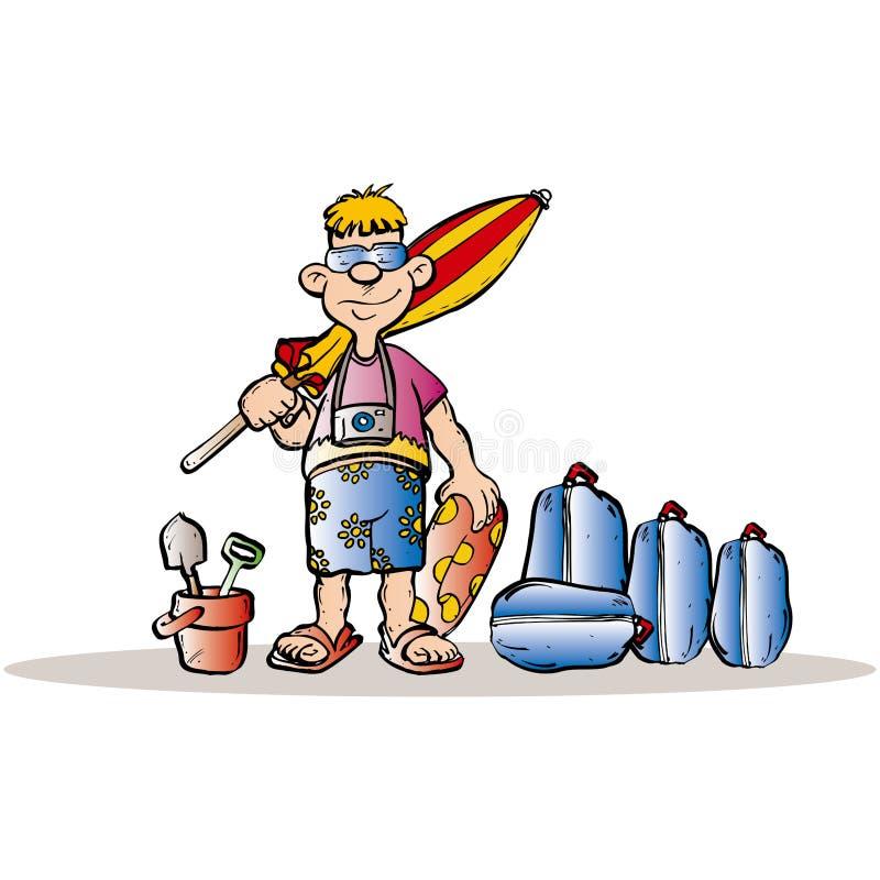 Homme de vacances illustration libre de droits