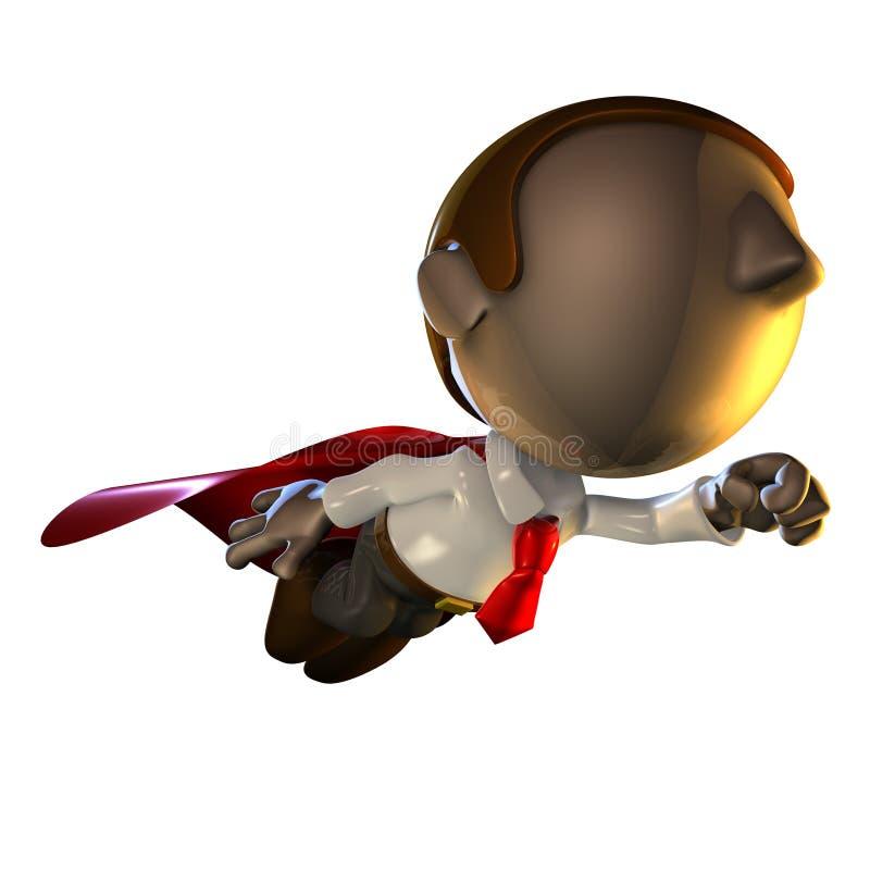 homme de vol de caractère des affaires 3d illustration de vecteur