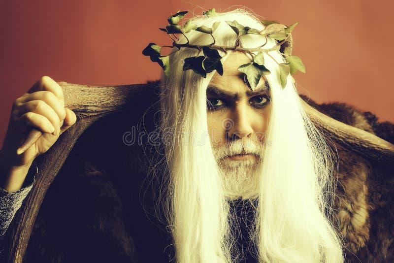 Homme de Zeus avec des andouillers photo libre de droits