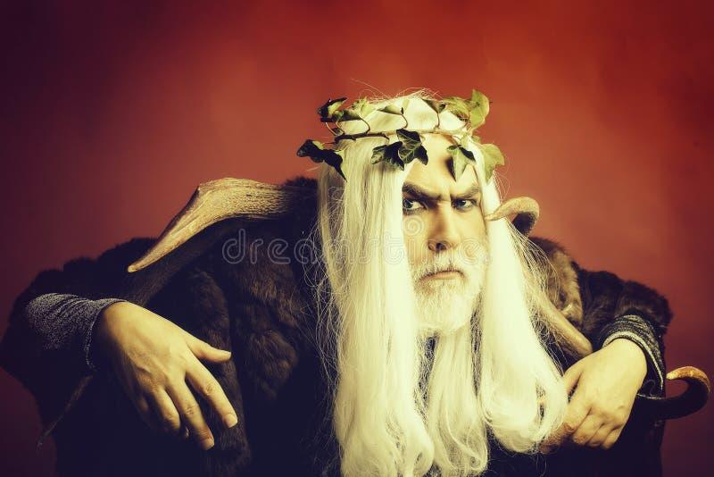 Homme de Zeus avec des andouillers image libre de droits