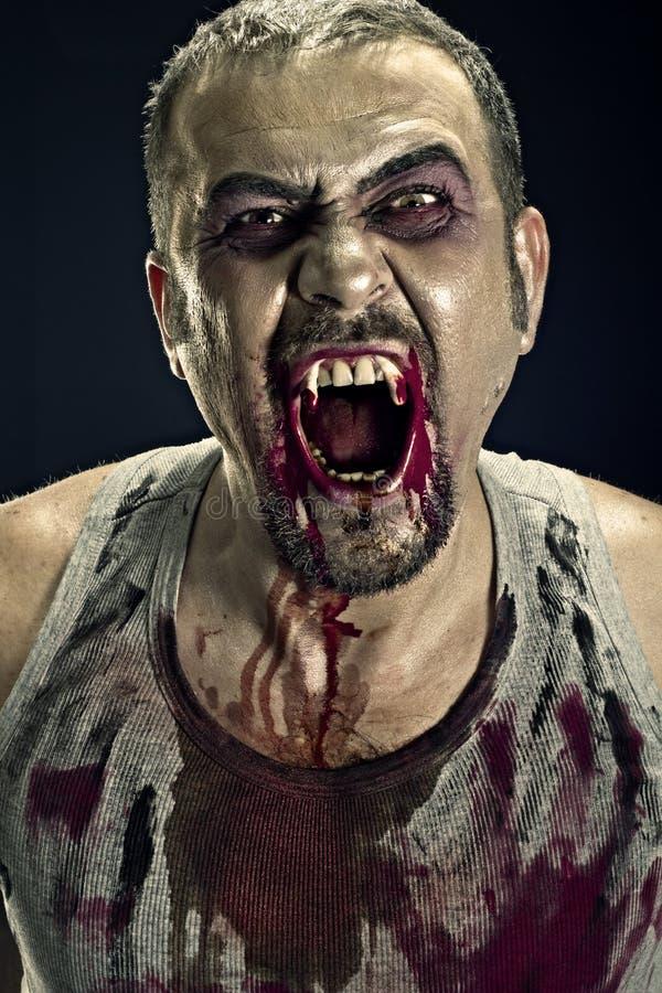 Homme de zombi photographie stock libre de droits