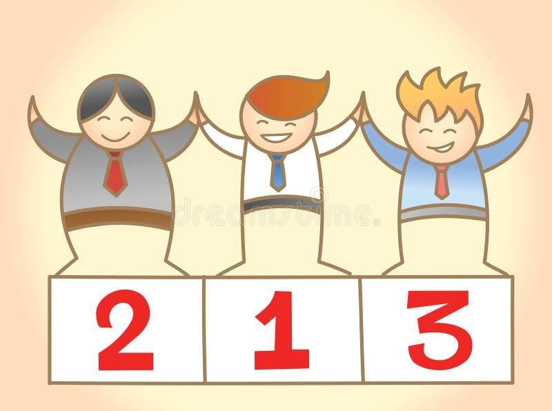 Homme des affaires trois gagnant ensemble illustration stock